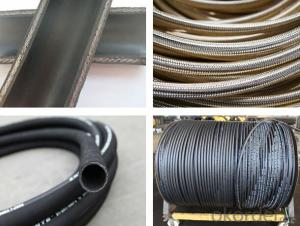 Rubber Hose with Smooth Surface Engraved Marking