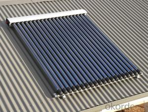10 Tubes Solar Pipes Solar Collectors EN12975