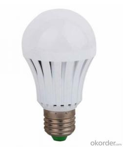 7W E27 G60 Plastic/Aluminium LED Light bulb