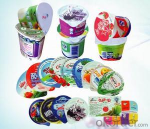Flat Plain Aluminium Foil for Yogurt Lidding