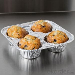 Aluminum foil container for pudding for container food