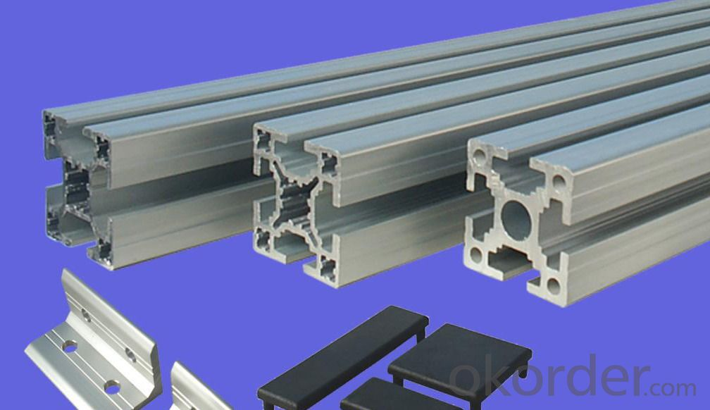 Aluminum Profile for Kitchen Cabinet Door Frame and Handles