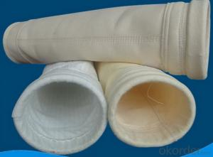 High temperature filter bag fiberglass needled felt filter bag