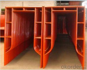 Painted H Frame Scaffolding Size for Construciton