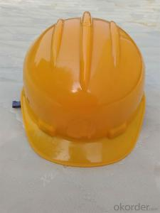 Industrial Safety Hat with Rain Gutter and Chin Strip CE EN397