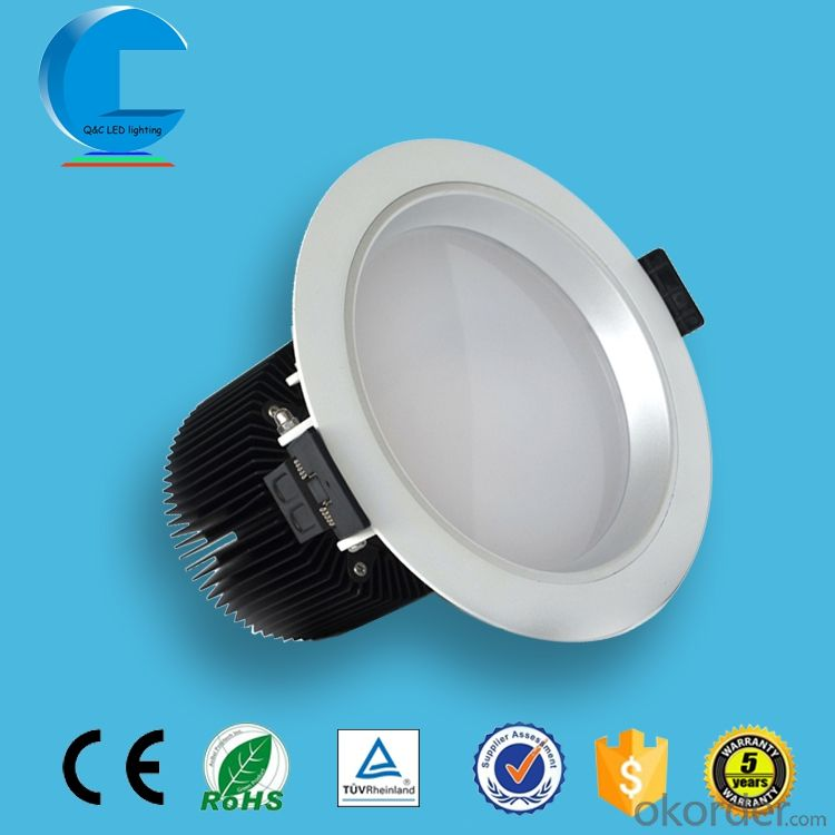 recessed led cob downlight anti-fog ceiling downlight with aluminum section
