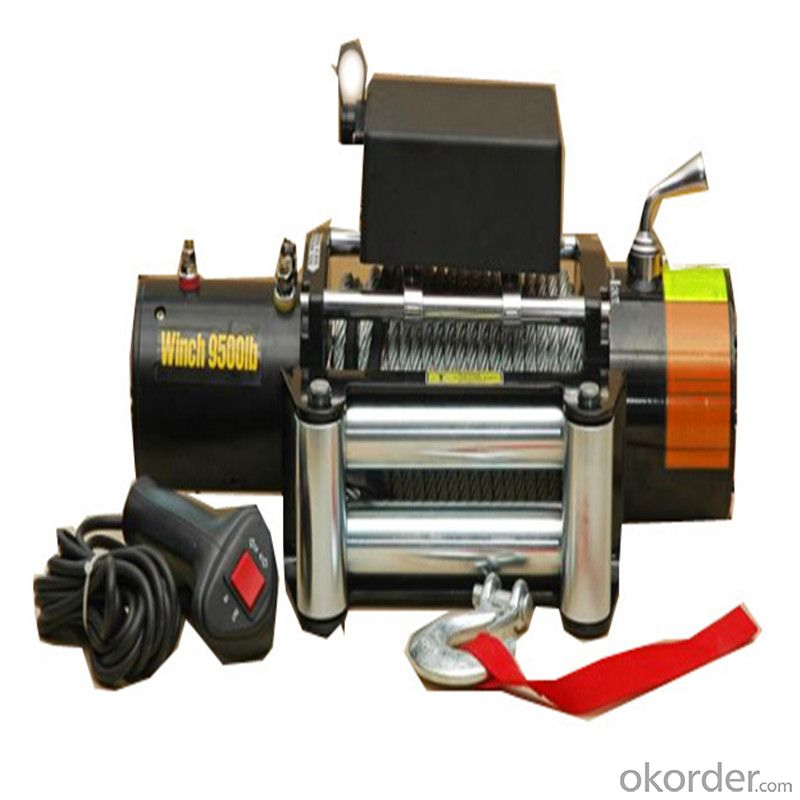 10000lbs Power Cable Winch 12v/24v, Roller Fairlead, Handheld Remote