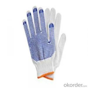 Cotton Knitted Gloves for Working with High Quality