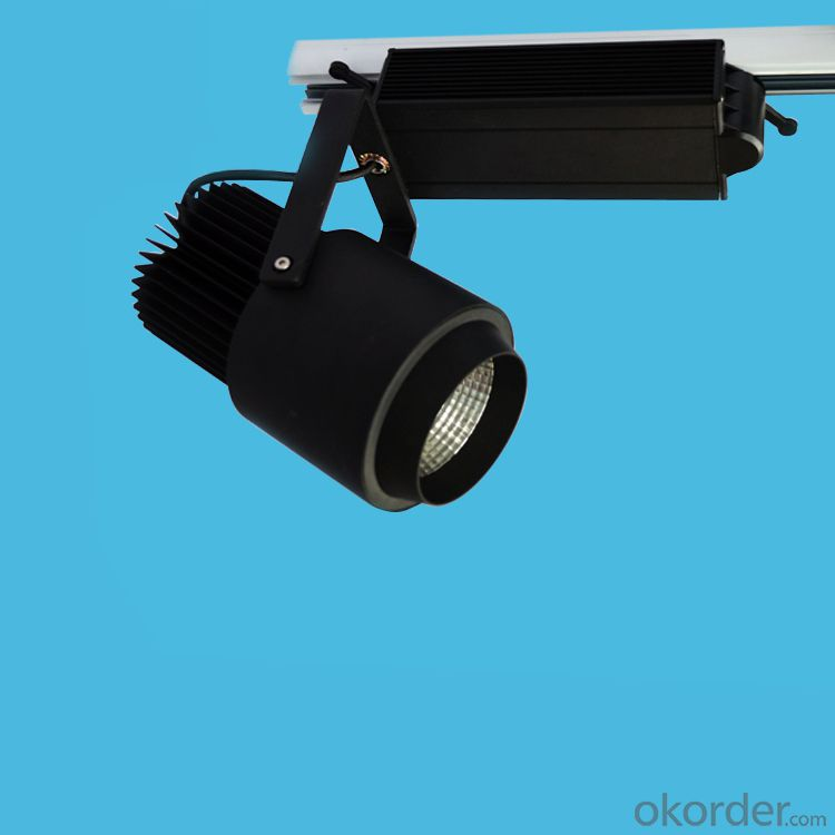 Black led cob track light 50W CE RoHs SAA Certification
