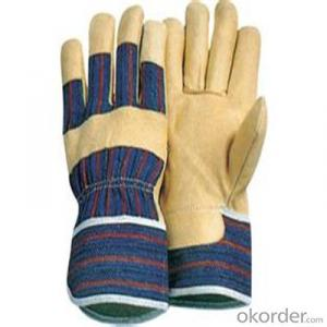 Leather Work Glove for Kitchen Latex Flocklined Household Gloves