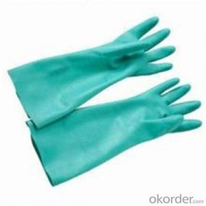 PVC Inner Split Double Palm  Work Glove from China