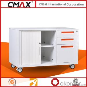 Office Steel Mobile Caddy Cabinet CMAX-RT-L-BBF
