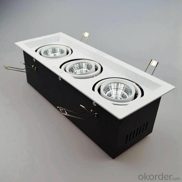 Led grille light dimmable 3pcs 30w cob led spotlight