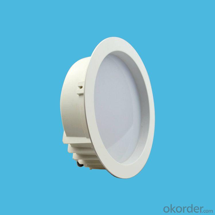 white plastic-aluminum housing led downlight 15W/18W/20W/24W AC 100-240V