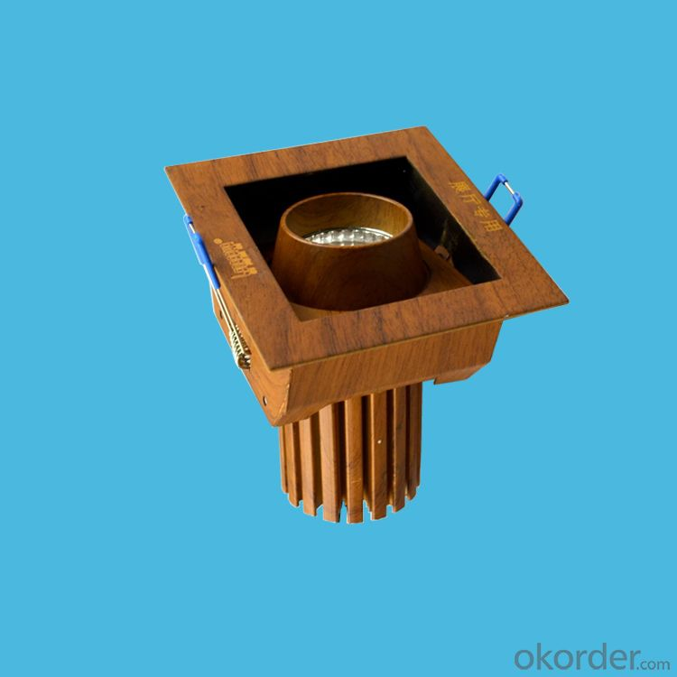 LED SPOTLIGHT AC 100-24V ,10W LED COB DOWNLIGHT  with wood-grain housing