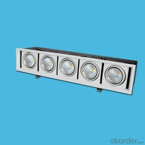 LED COB GRILLE LIGHT 5 headeds 5*10W warm white 3000K AC 100-240V