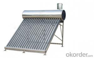 Freestanding Vacuum Tube Unpressurized Solar Hot Water Heater