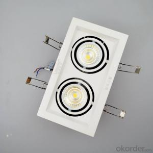 Led COB Grile downlight double-headed 2*6W  for CE or ROHS