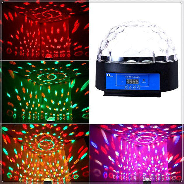 RGB LED Stage Light Mini Magic Ball Effect MP3 Control for Disco DJ Party