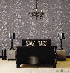 PVC Wallpaper Waterproof PVC Wallpaper for Interior Works Decoration