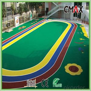 U.V. Resistance PE Monofilament yarn & PP Curly Yarn Soft-Feeling Artificial Lawn for Schools