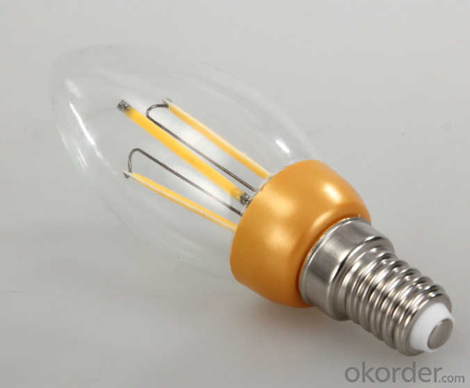 LED FILAMENT LAMP CANDLE  BULB 2W NEW DEVELOPMENT