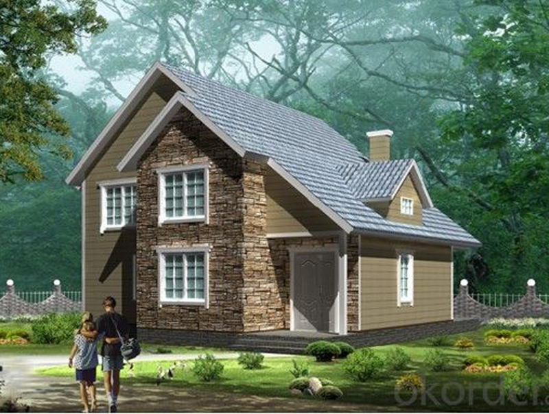 Prefabricated Steel House with Two Floors Made in China