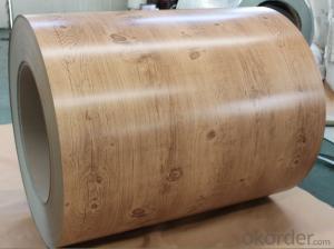 Wooden Grain Decorative Anodized Sheet Color Coated Aluminum Coil DX9061