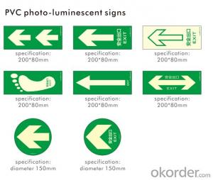 RARE EARTH PHOTOLUMINESCENT SIGNS SELF-LUMINOUS SIGNS
