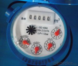 single jet dry type vane wheel cold water meter