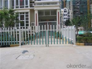 Elegant Plastic Picket Villa Fence with 7/8 x1.5 inch Picket