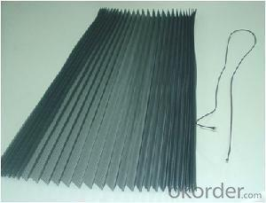 Plisse Pleated Screen with PP Polyester Pet Material