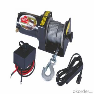8500 Power Cable Winch 12v/24v, Roller Fairlead, Handheld Remote