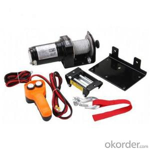 12000-I Power Cable Winch 12v/24v, Roller Fairlead, Handheld Remote