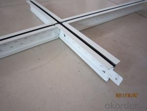 White Color Suspension Ceiling T-Grid for building