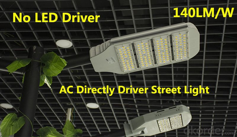 LED Street light 80-240W 5Years warranty 140L/W No Driver AC Directly drive