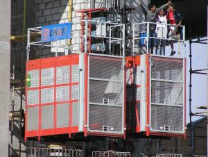 Building Lifting Hoist  China Hot Sale with Double Cage SC200/200 CE