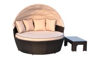 Garden Daybeds with Cushion Covers Shower Proof BDAR-L2 Beige