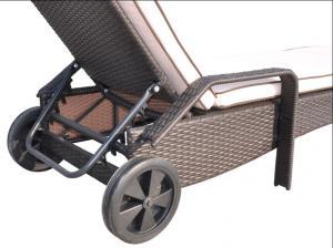 Aluminum Frame Sun Loungers with Wheels BDAR-L1