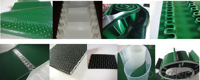 Light Duty PVC Conveyor Belt Polyurethane/PU Conveyor Belt