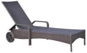 Aluminum Frame Sun Loungers with Wheels BDAR-L1