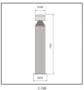 Die-casting aluminum cover Bollard Lighting c-13B