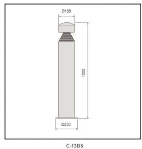 Die-casting aluminum cover Bollard Lighting c-13Bs