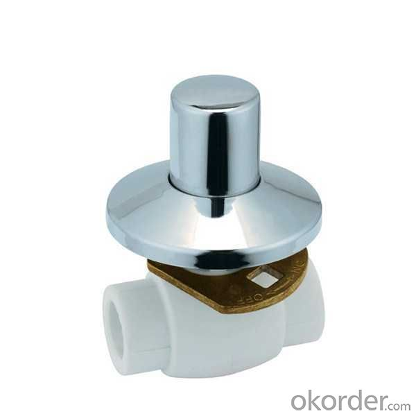 High Quality B7 Type Luxurious PPR conceal installation ball valve with brass ball