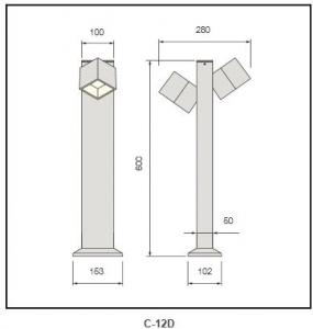 aluminum body extruded aluminum pole Bollard Lighting