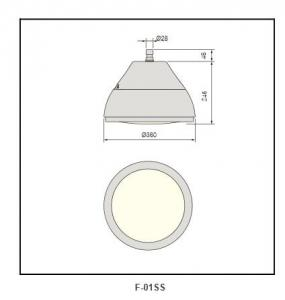 flat tempered glass cover  Highbay Lighting F-01ss