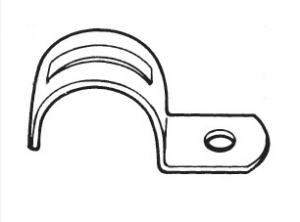 ELECTRICAL CONDUIT ONE HOLE STRAP-STEEL,EMT Conduit straps, EMT one hole strap