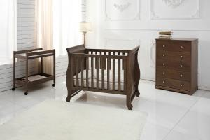 Harmony Sleigh Cot 2016 hot sale Soild Wooden Baby Cribs Baby Beds