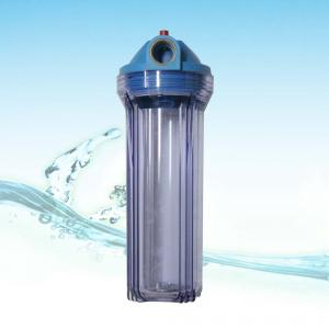 Water purifier with transparent filter bottle