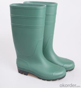 PVC Industrial Working Safety Rain Boots with Steel Toecap and  Midsole CE EN20345